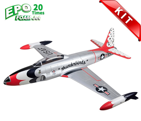HSDJETS T-33 Foam Turbine Thunderbirds Colors KIT