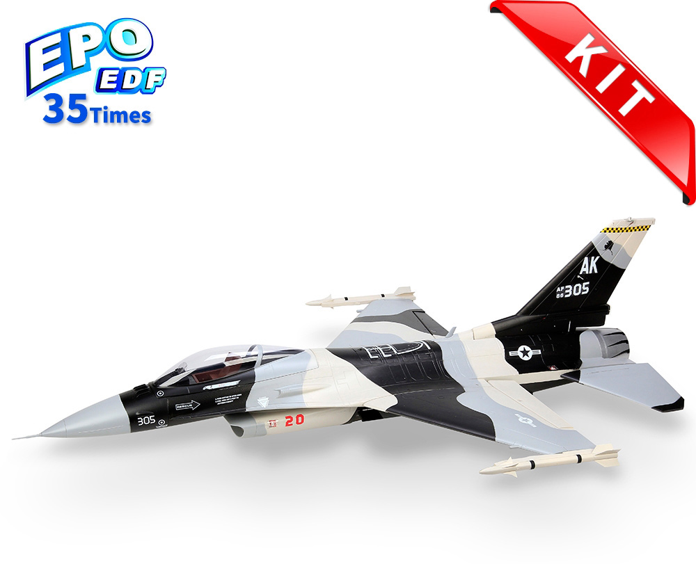 HSDJETS 105mmEDF F-16 Black and white Snow Camo Colors KIT