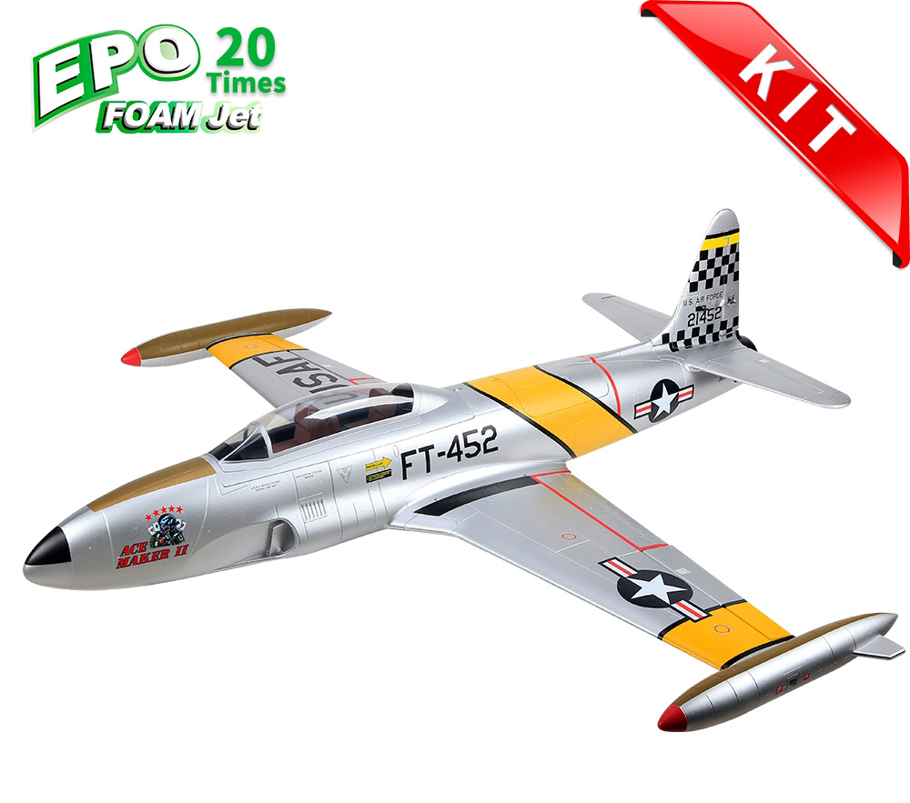 HSDJETS T-33 Foam Turbine Yellow ribbon Colors KIT