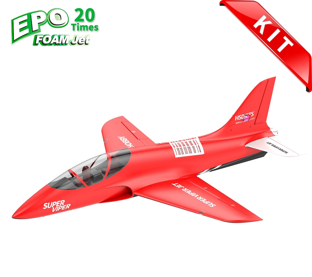 HSDJETS Super Viper Foam Turbine Red Colors KIT