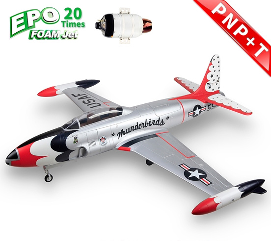 HSDJETS T-33 Foam Turbine Thunderbirds Colors PNP+SWH-80B