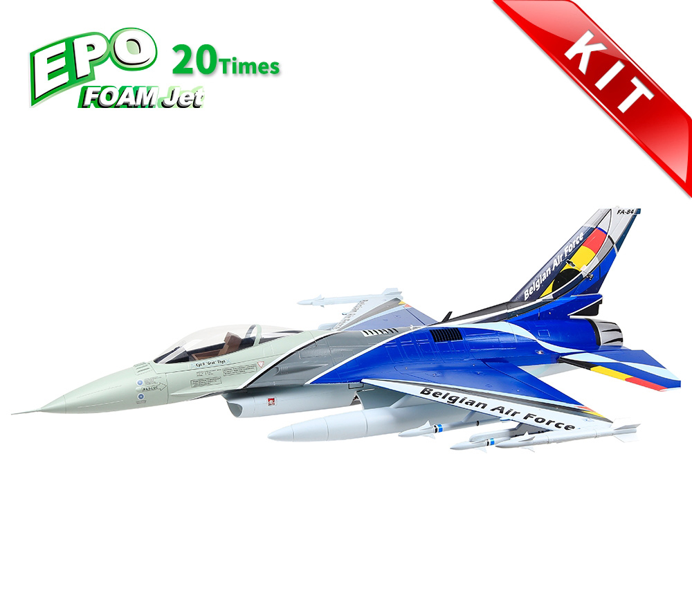 HSDJETS F-16 Foam Turbine Belgian Colors KIT