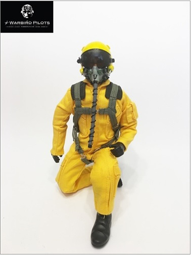 "12"" Tall Modern Jet Pilot Yellow"
