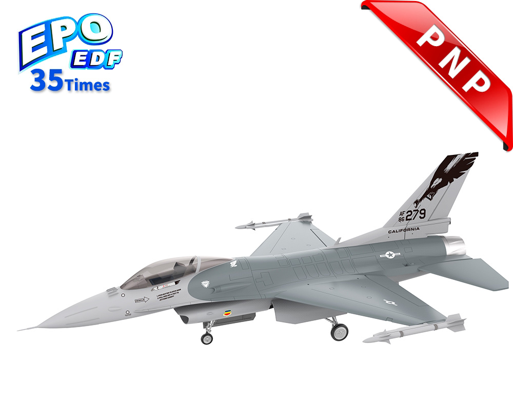 HSDJETS 105mmEDF F-16 Grey Colors PNP 12S