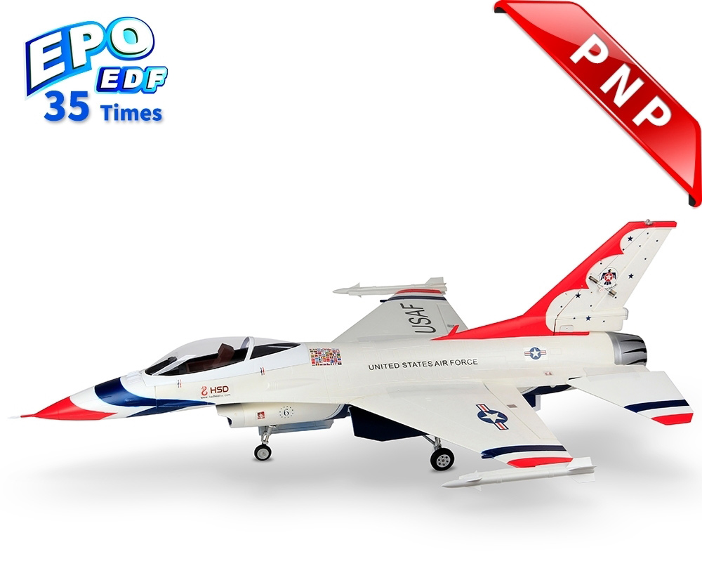 HSDJETS S-EDF 105mm HF-16 Thunderbirds Colors PNP 12S