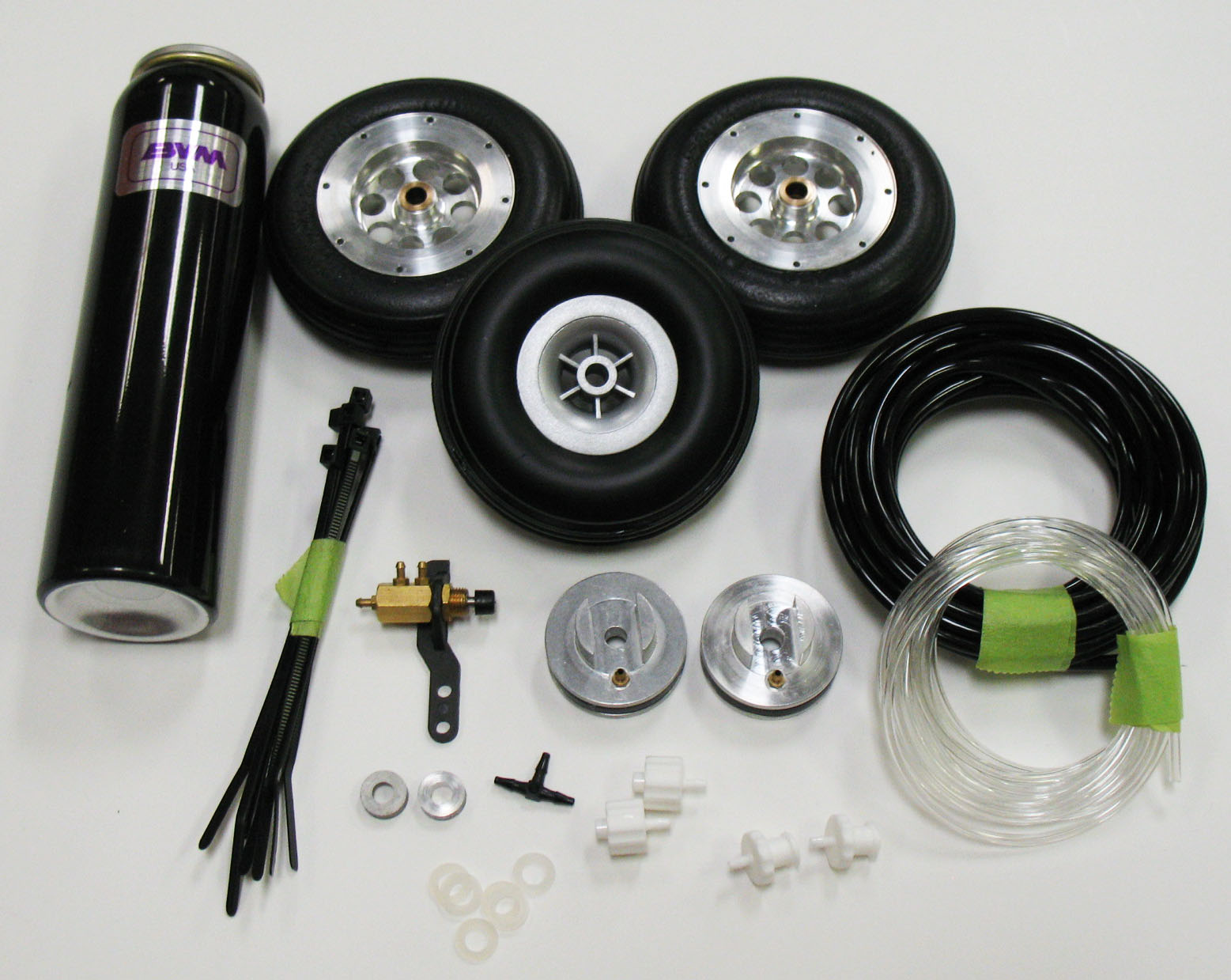 "3"" Mains, 2-3/4"" Nose V-Lite Wheels and Brakes"
