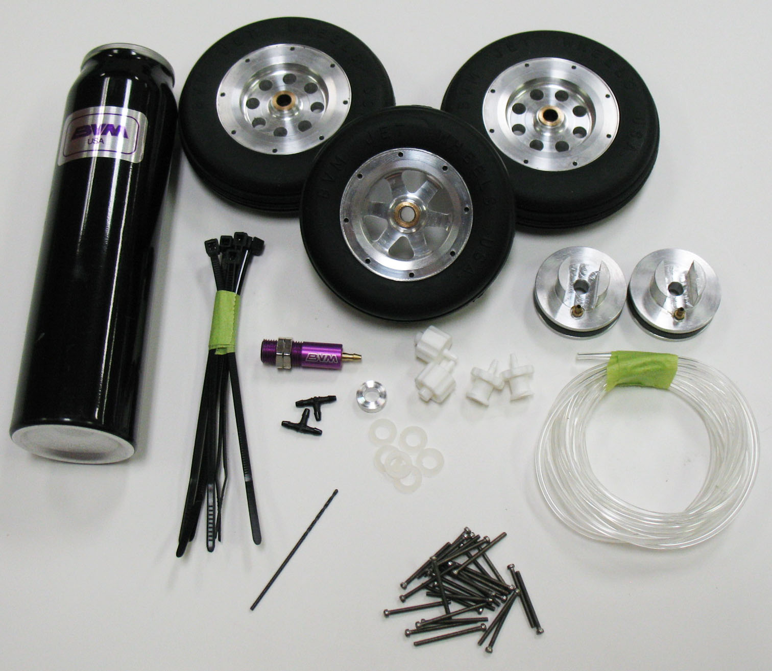 "3"" Mains, 2-5/8"" Nose Wheels and Brakes"