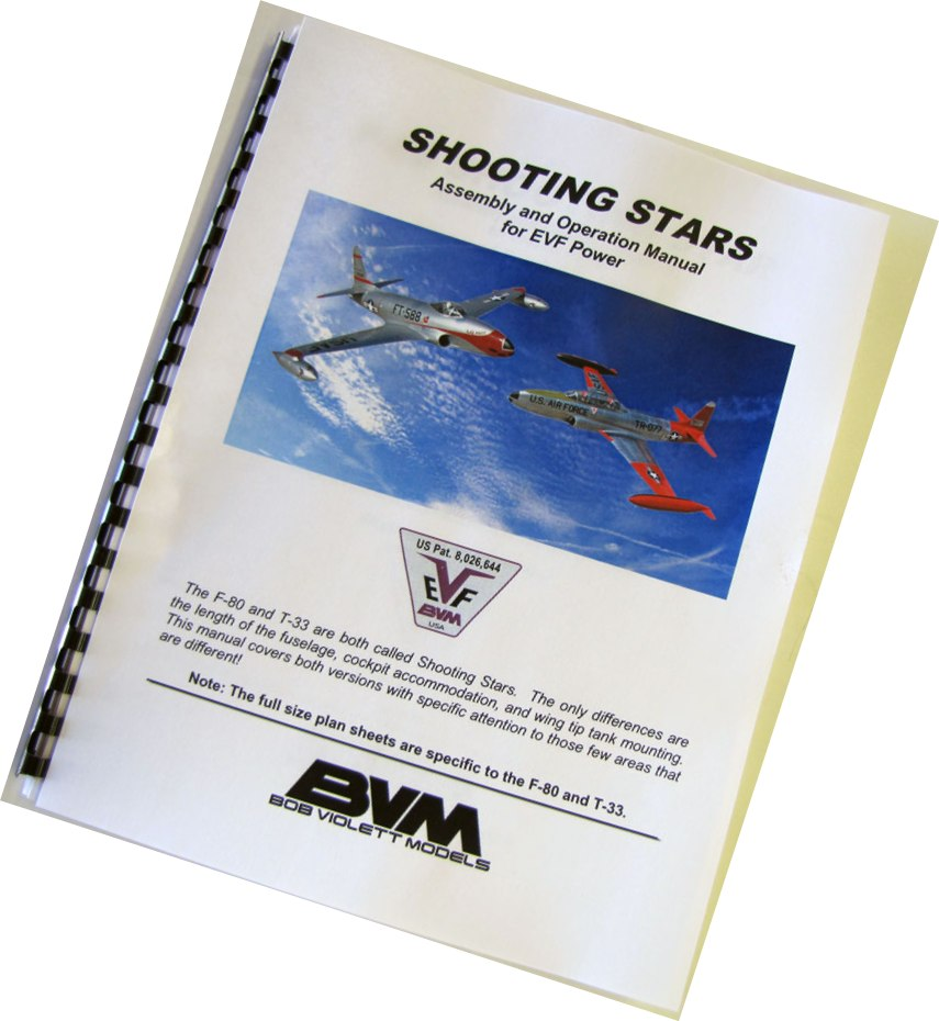 F-80 & T-33 Instruction Manual For EVF