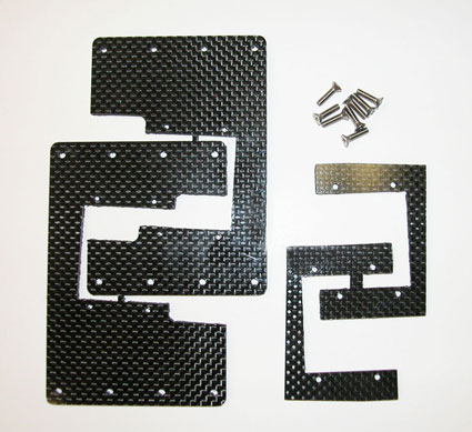 Electra machined carbon fiber flex plates