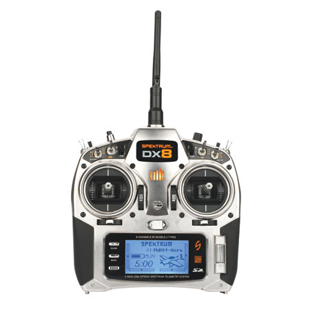 DX8 8CH Transmitter with AR8000/TM1000: No Servos by Spektrum