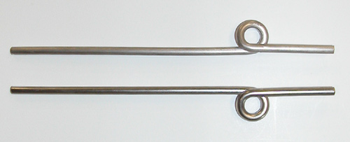"3/16"", single coil Main Wire Struts - pr"