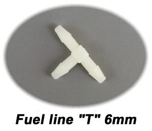 "Fuel Line ""T"" for 6mm line"