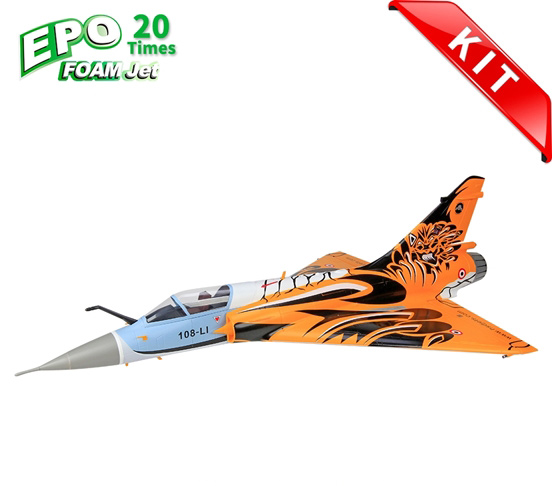 HSDJETS Mirage2000 Foam Turbine Tiger Colors KIT Vectoring