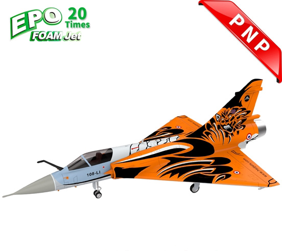 HSDJETS Mirage2000 Foam Turbine Tiger Colors PNP Vectoring